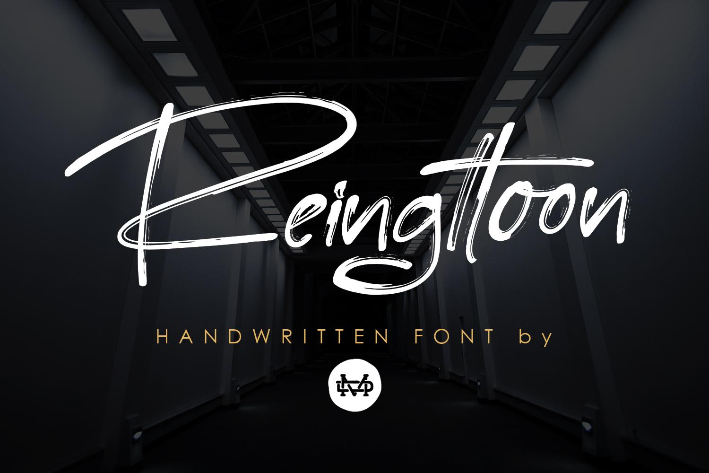 Reingttoon Handwritten Brush example image 1