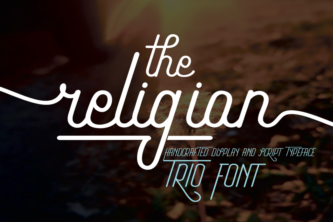 The Religion Trio Font example image 11