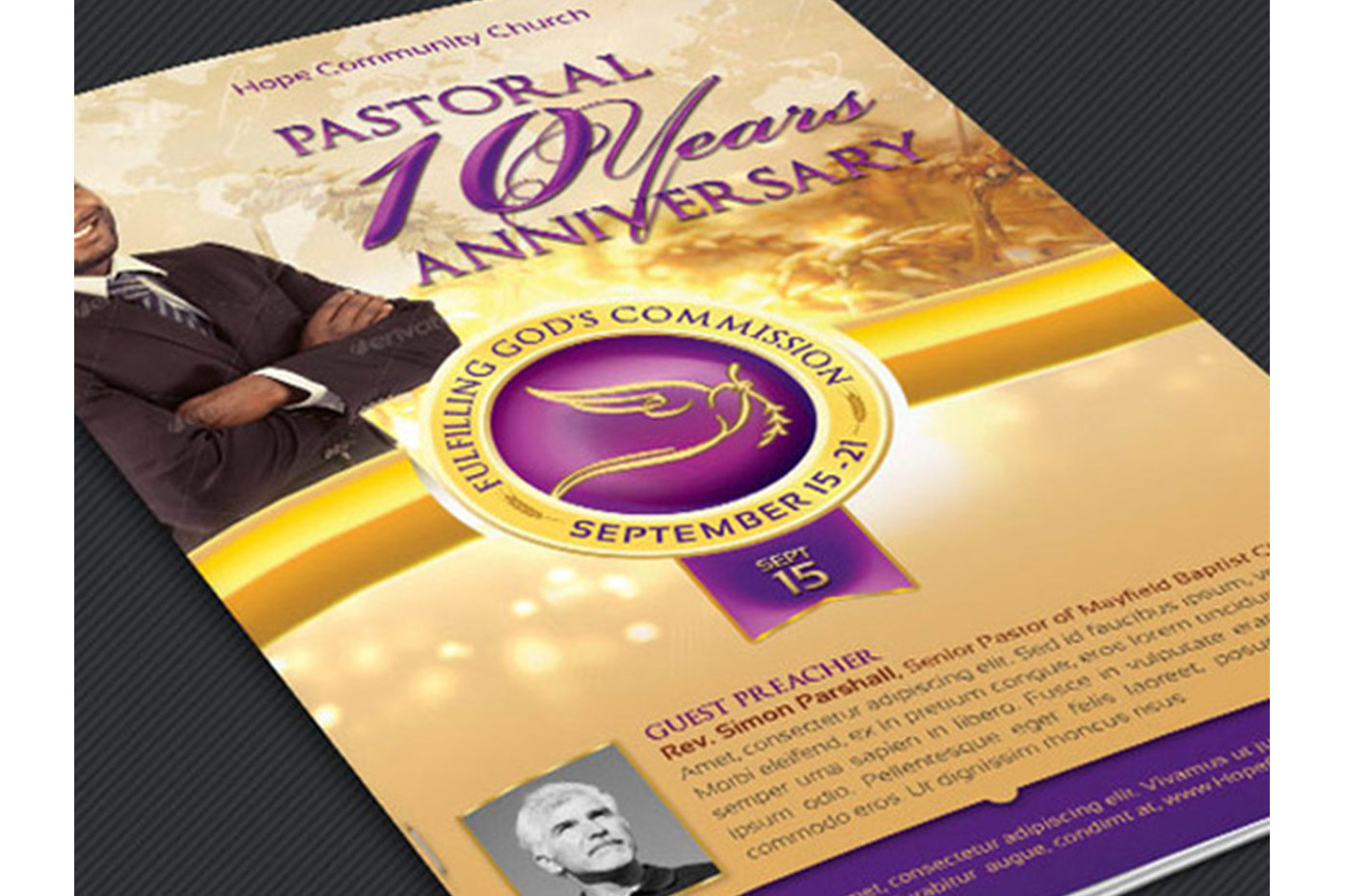 Clergy Anniversary Template Bundle example image 5