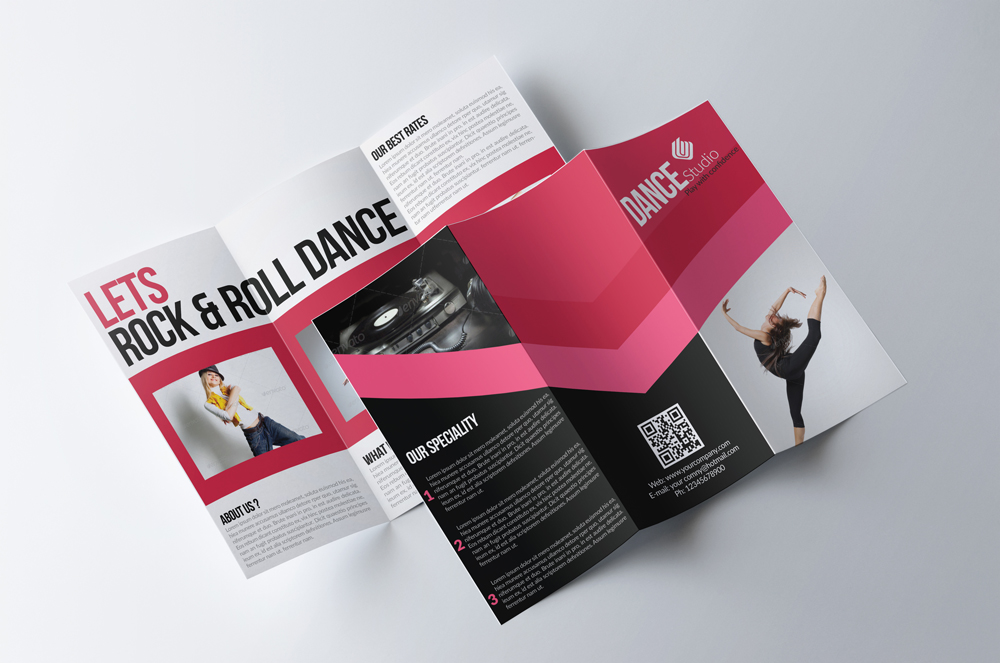 Dance Classes Centre Trifold Brochures example image 2