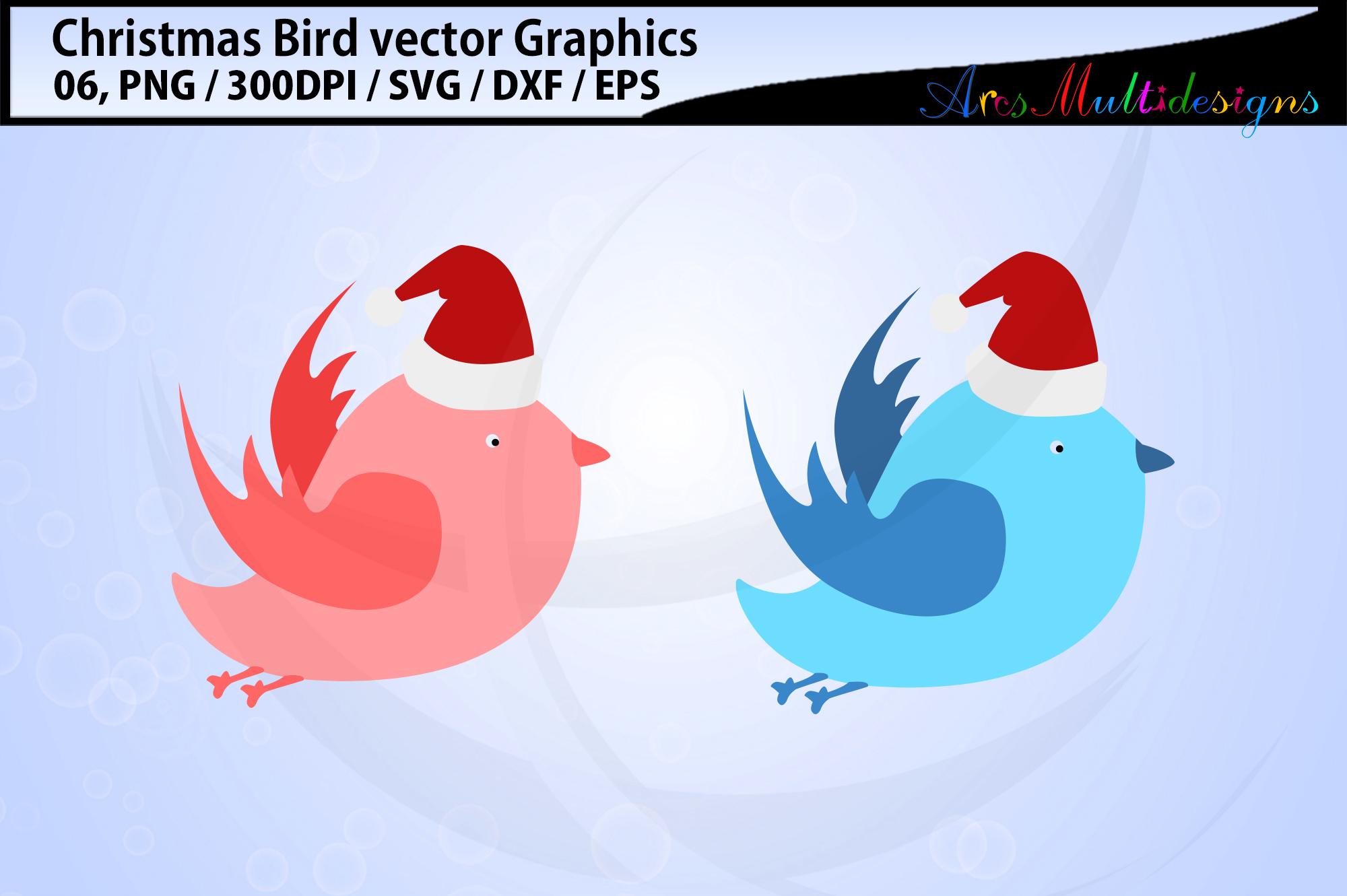 Christmas Birds svg / Christmas love birds svg / floral bird example image 3