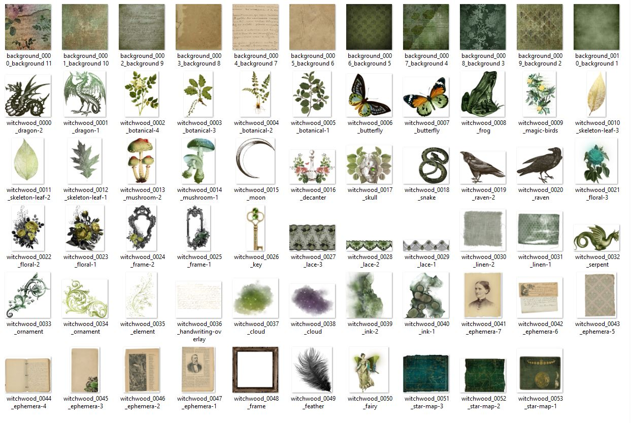 Witchwood Digital Scrapbooking Kit example image 3