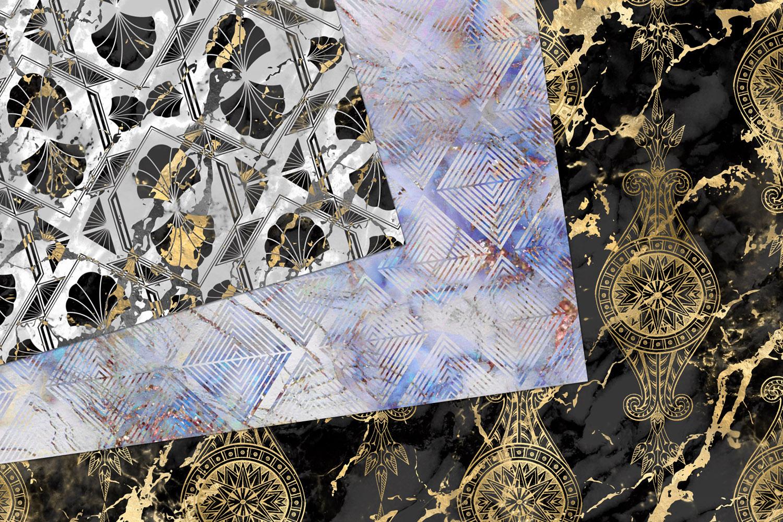 Marble Art Deco Digital Paper example image 3