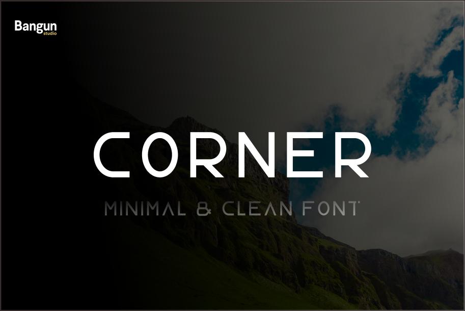 Corner font example image 1