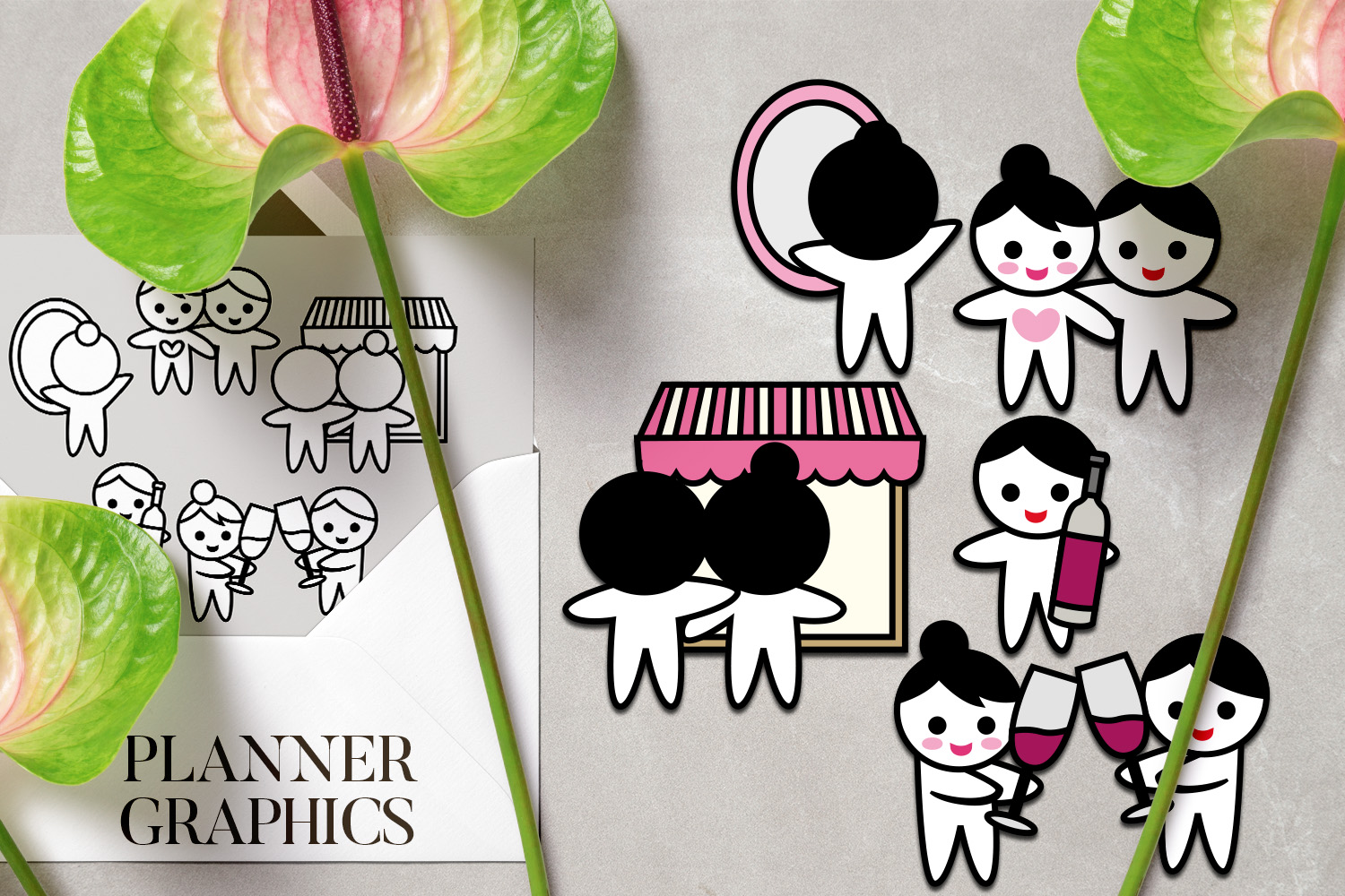Holidays Bundle - Planner Graphic Illustrations example image 9