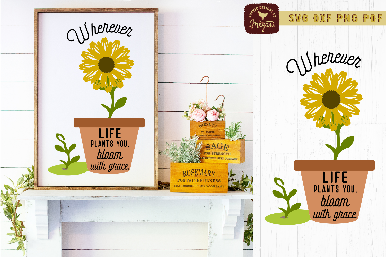 Sunflower SVG Bundle example image 7