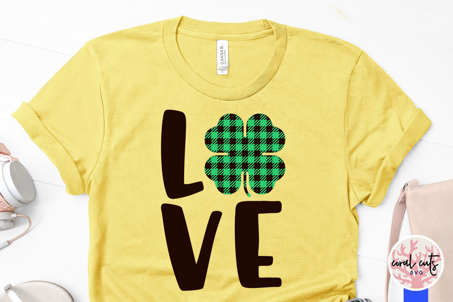 Love - St. Patrick's Day SVG EPS DXF PNG example image 3