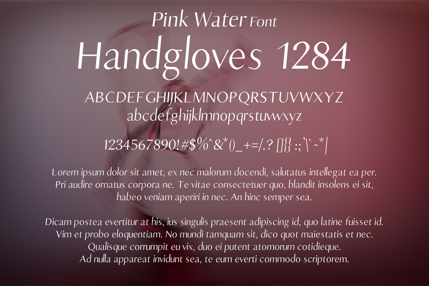 Pink Water Font example image 2