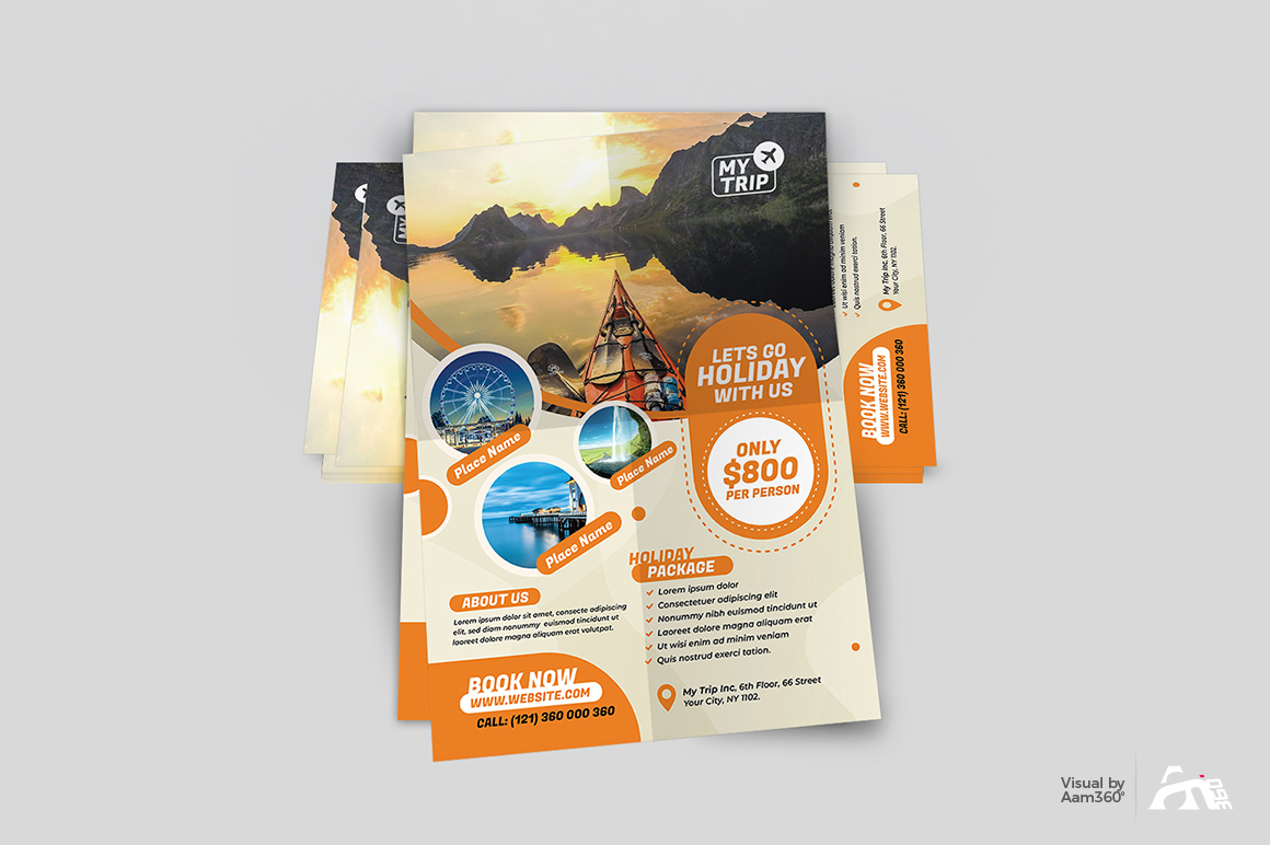 Travel Flyer Template example image 4