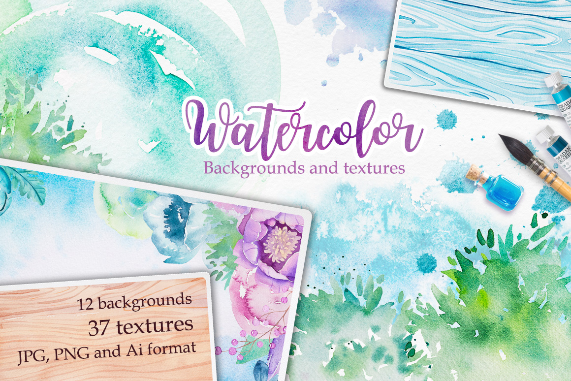 Watercolor textures example image 1