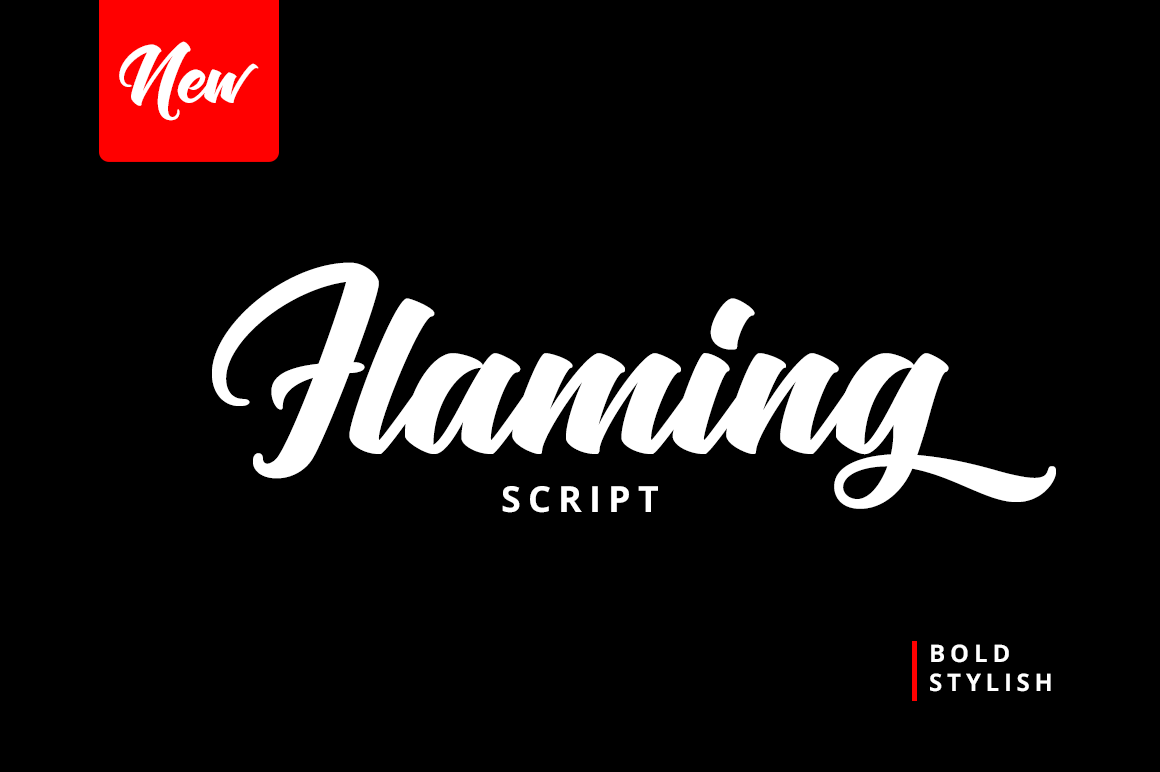 Flaming Script example image 2