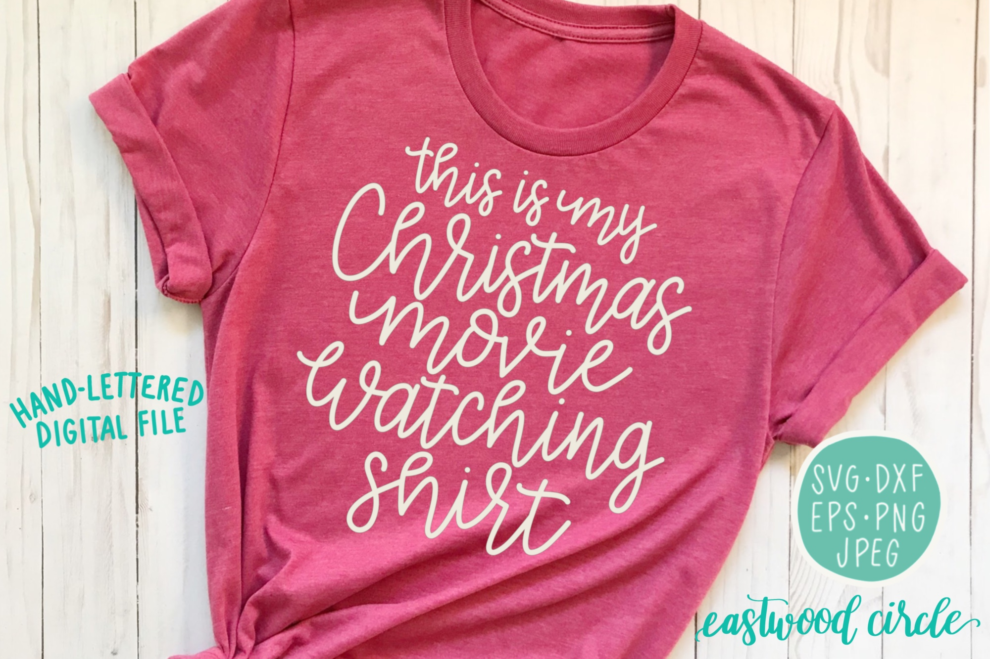 This Is My Christmas Movie Watching Shirt - An SVG Cut File example image 1
