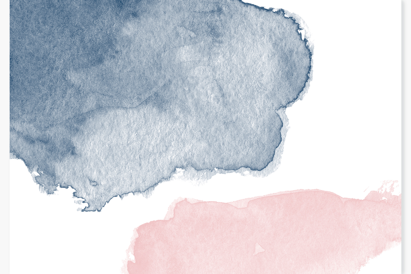 Watercolor stains Blush pink Navy blue Beige Grey washes example image 3