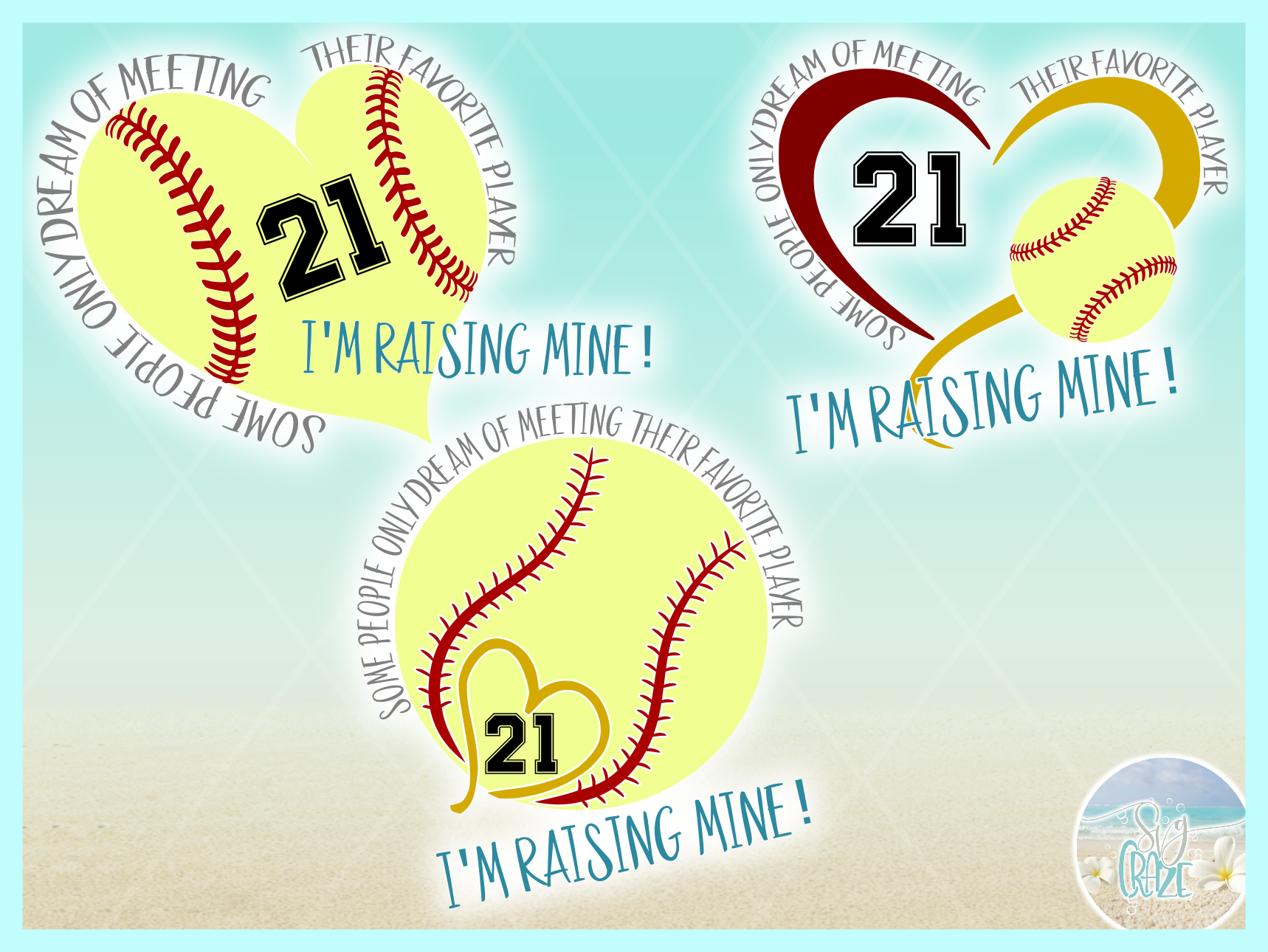 Raising My Favorite Softball Player Svg Dxf Eps Png Pdf example image 3