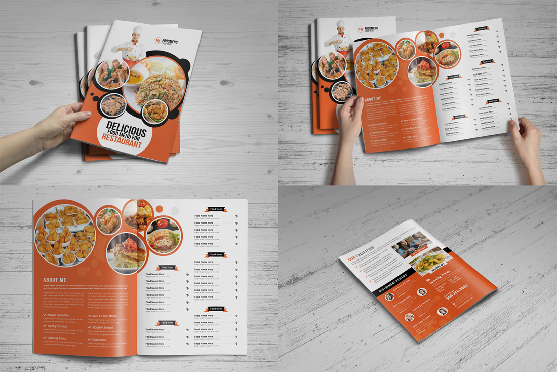Food Menu Restaurant Brochure Bundle example image 7