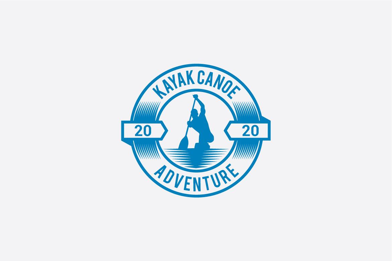 kayak canoe logo example image 4