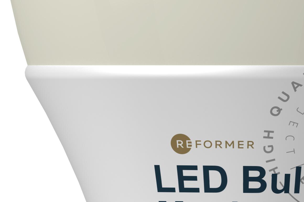 Glossy & Matte LED Bulb Mockup example image 3