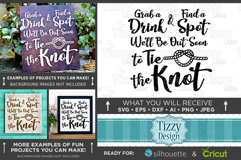 Tie The Knot SVG - Wedding SVG Files - 5503 example image 1