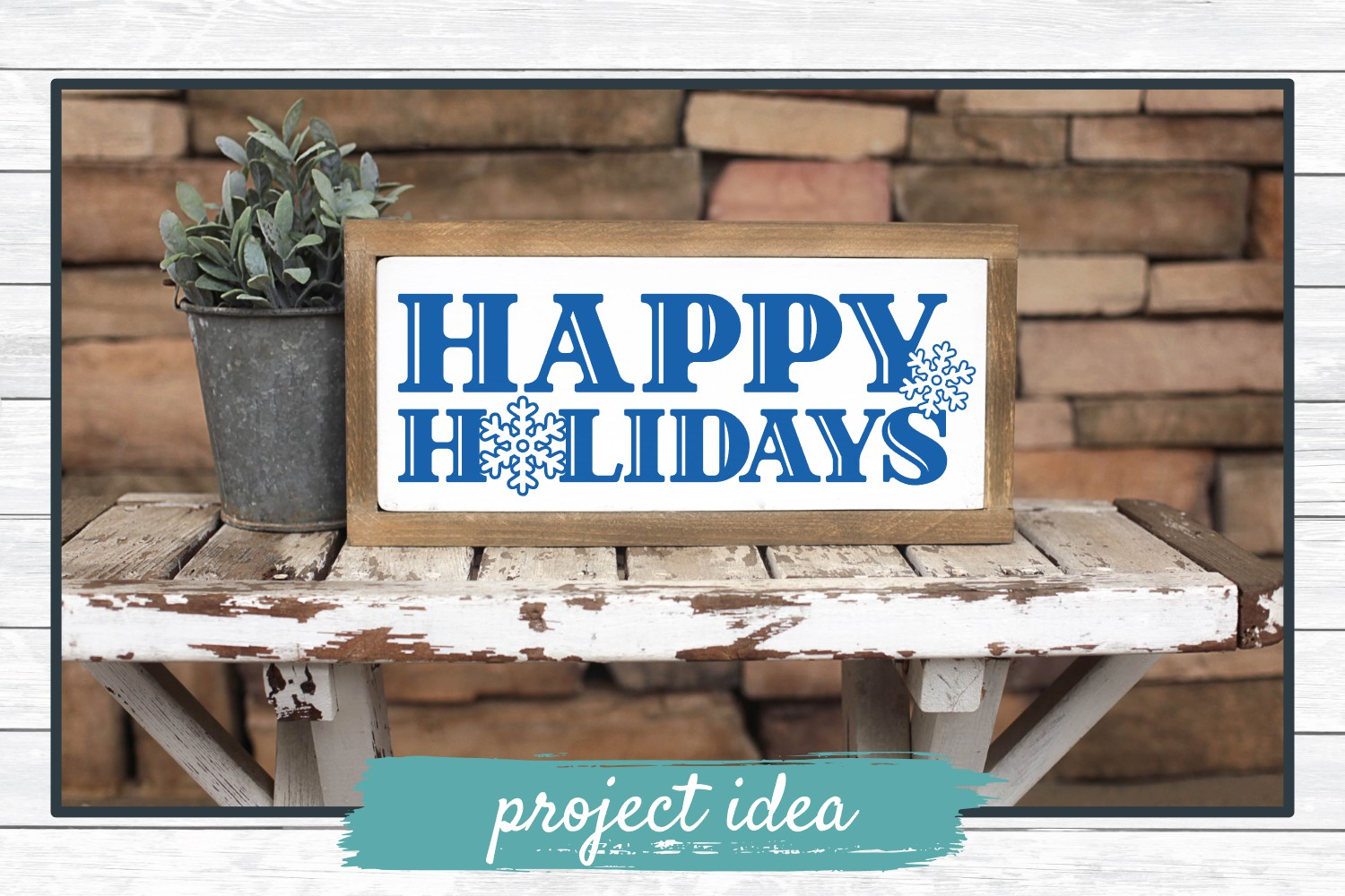 Happy Holidays, Christmas Winter Holiday SVG Cut File example image 2