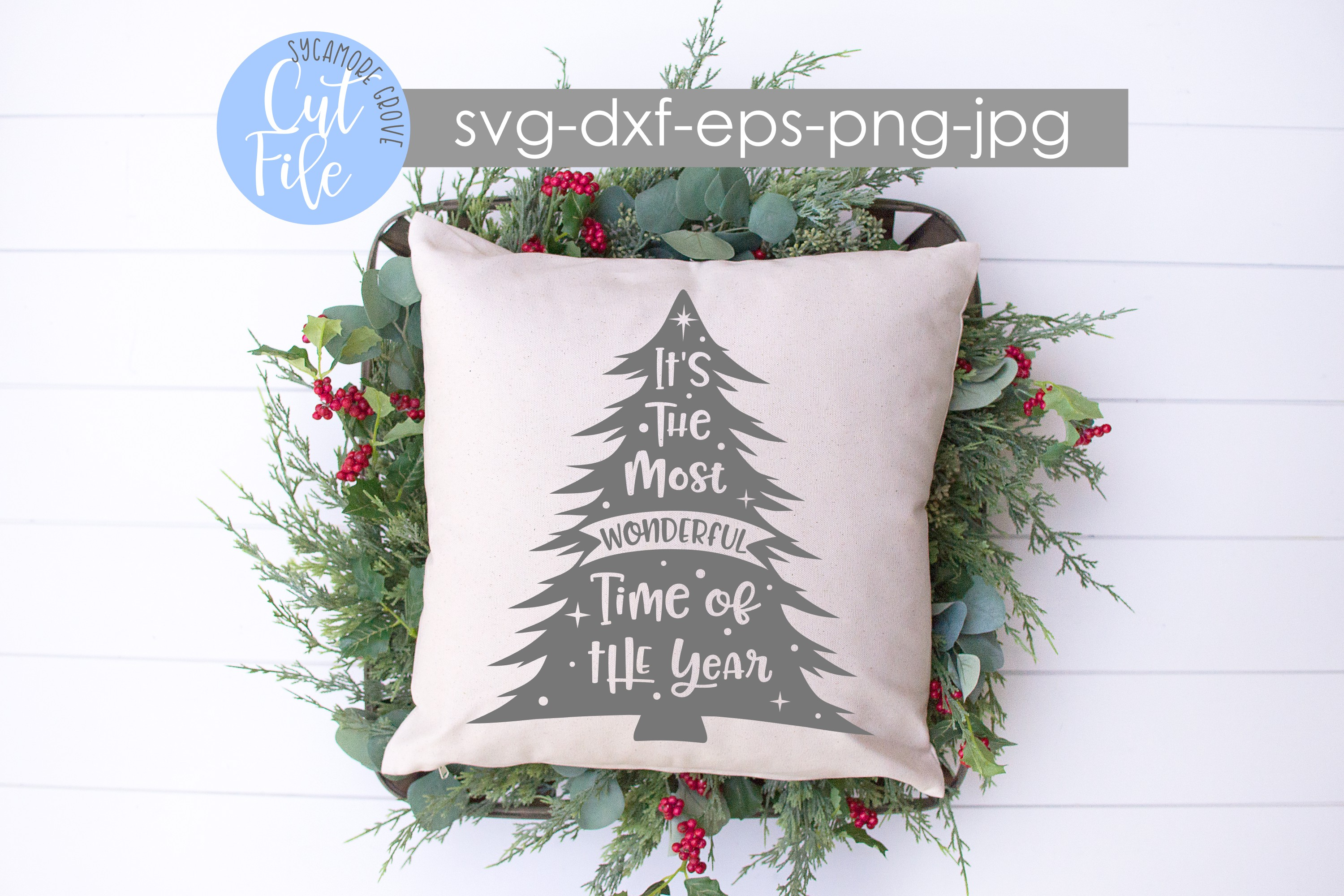 It's The Most Wonderful Time Of The Year | Christmas SVG example image 3