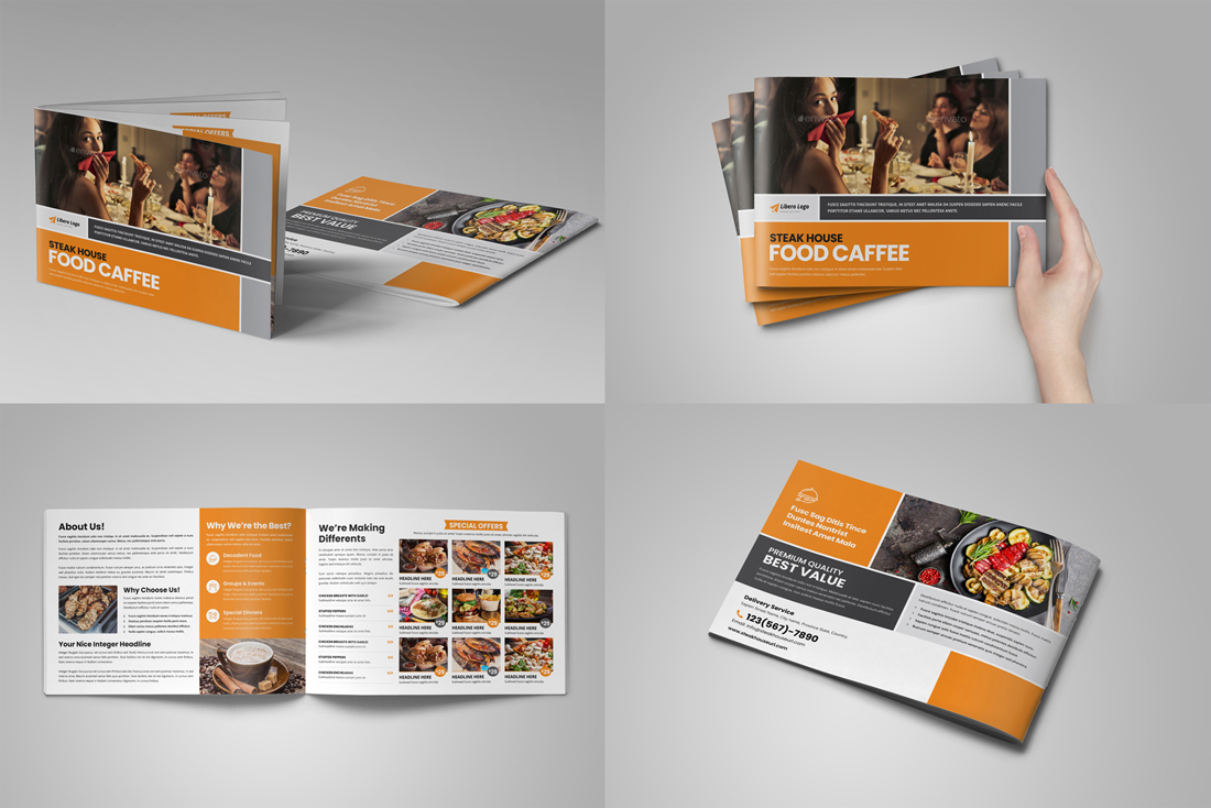 Food Menu Restaurant Brochure Bundle example image 3