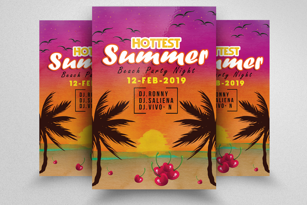 10 Summer Beach Party Flyers Bundle example image 11