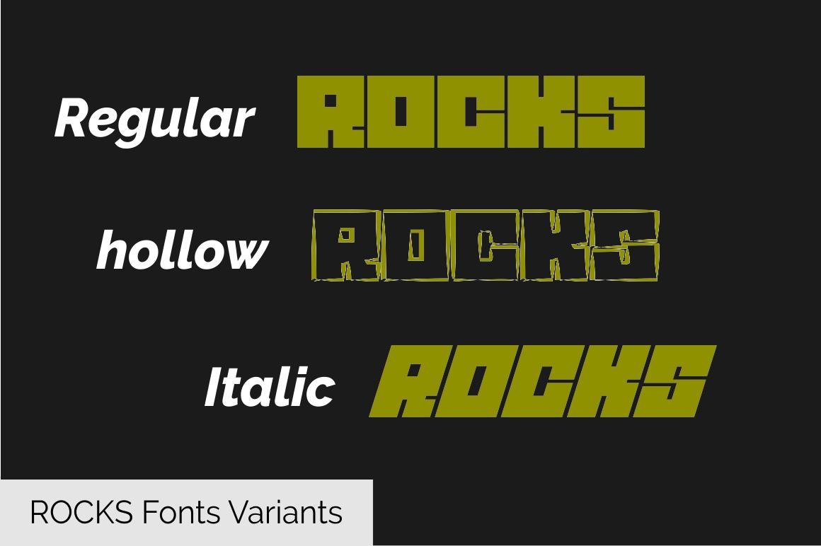 ROCKS Font example image 2