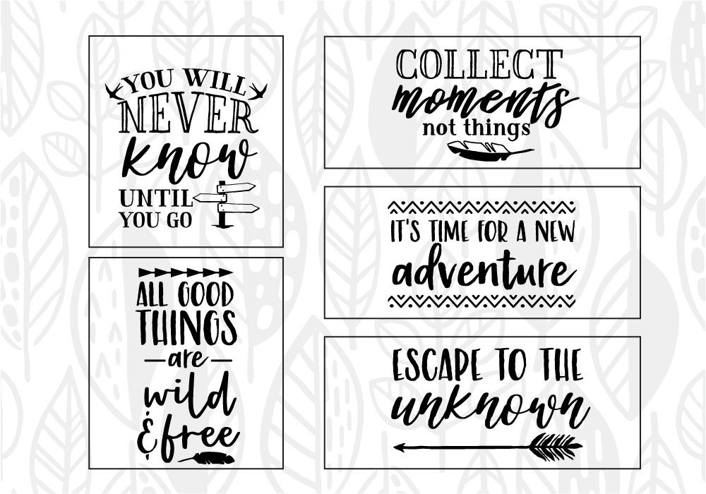 Adventure & Travel Quote SVG Cut File Bundle example image 5