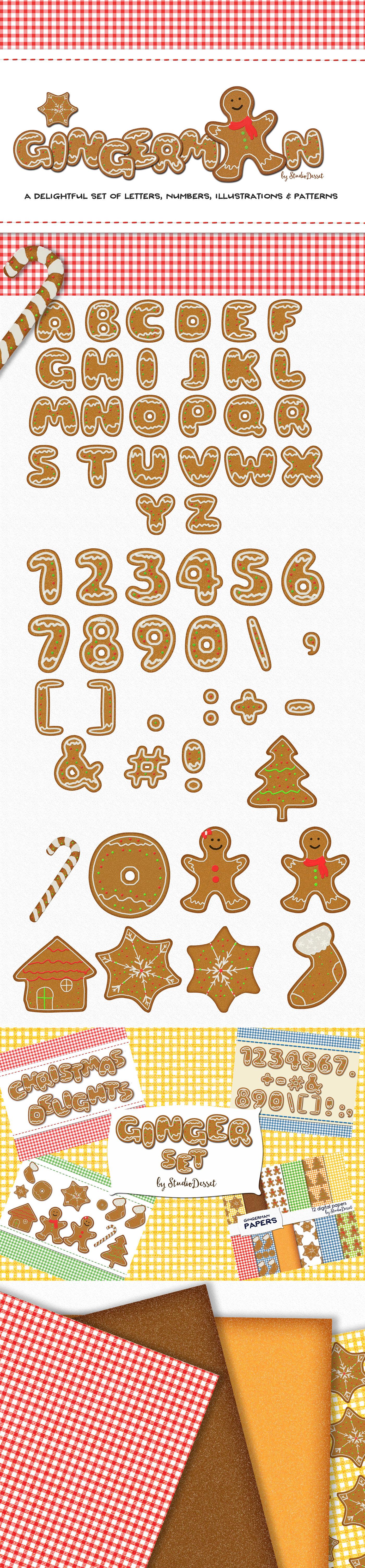 Gingerman Design Bundle - Letters, Numbers, Illustrations example image 8