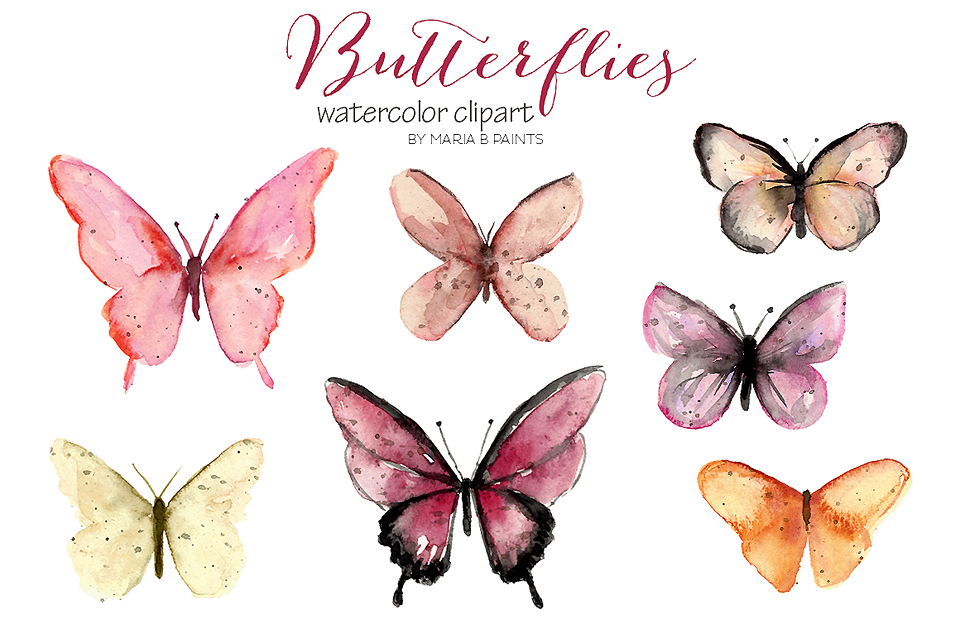 2,600 in 1 Watercolor Clip Art Bundle example image 21