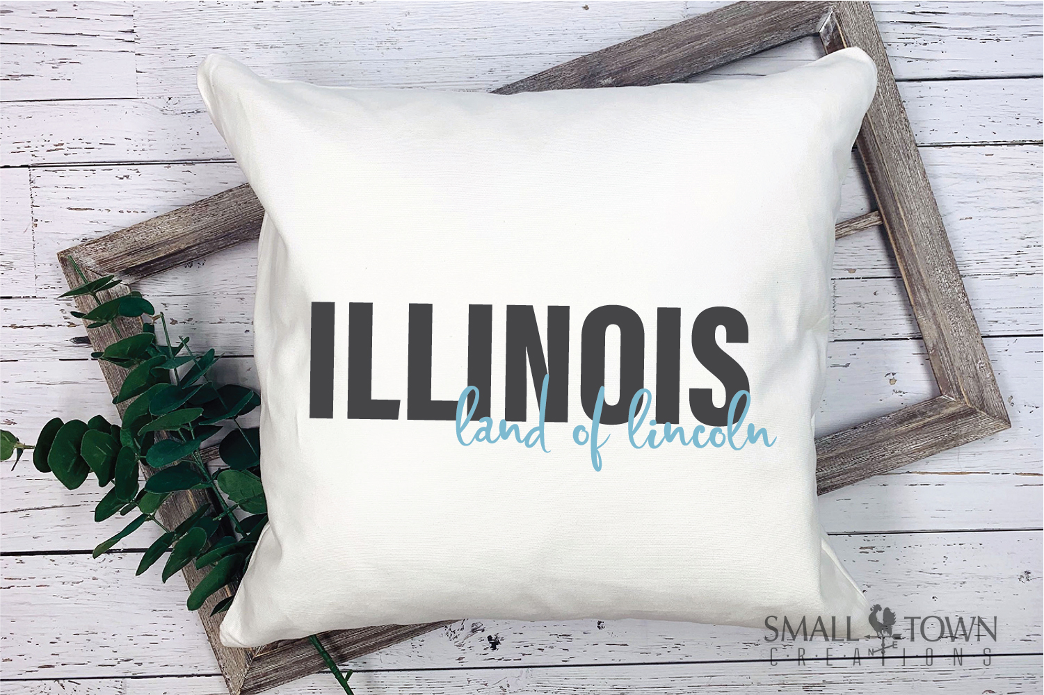 Illinois, Land of Lincoln-slogan, Logo, PRINT, CUT & DESIGN example image 5
