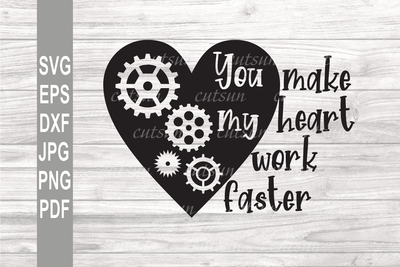 Valentine SVG | Steampunk heart SVG | Valentine's day heart example image 1