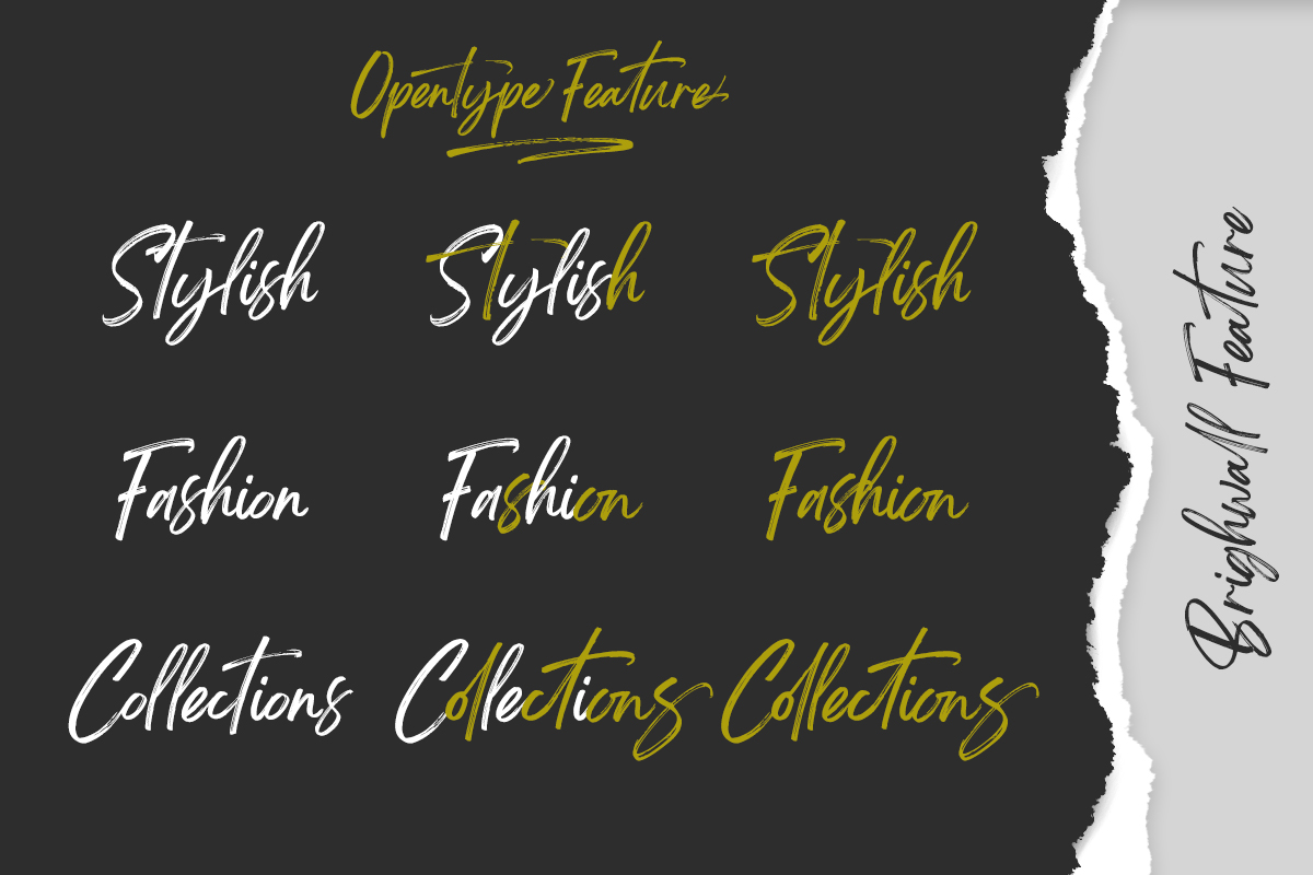 Brightwall Brush Font example image 12