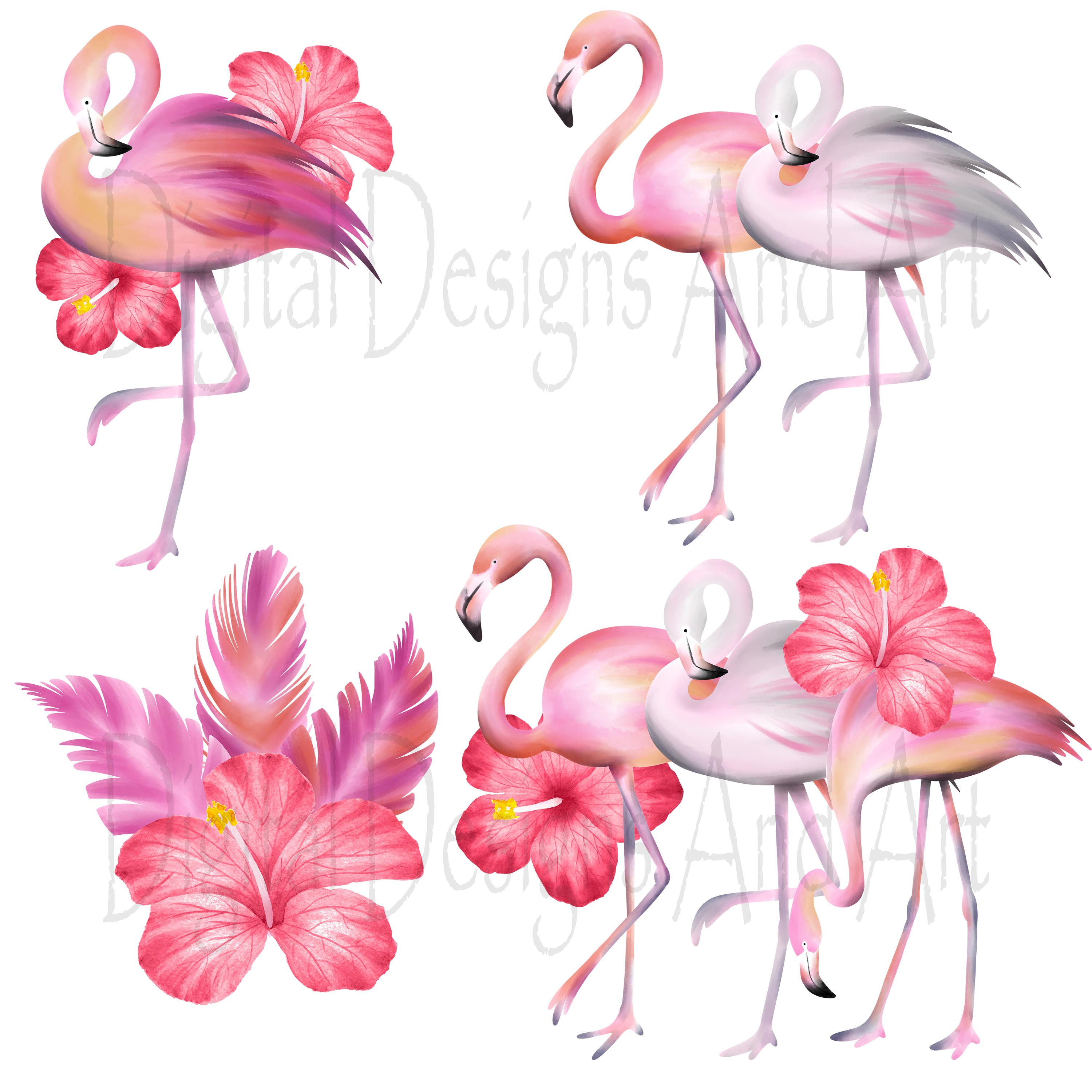 Pink flamingo clipart example image 5