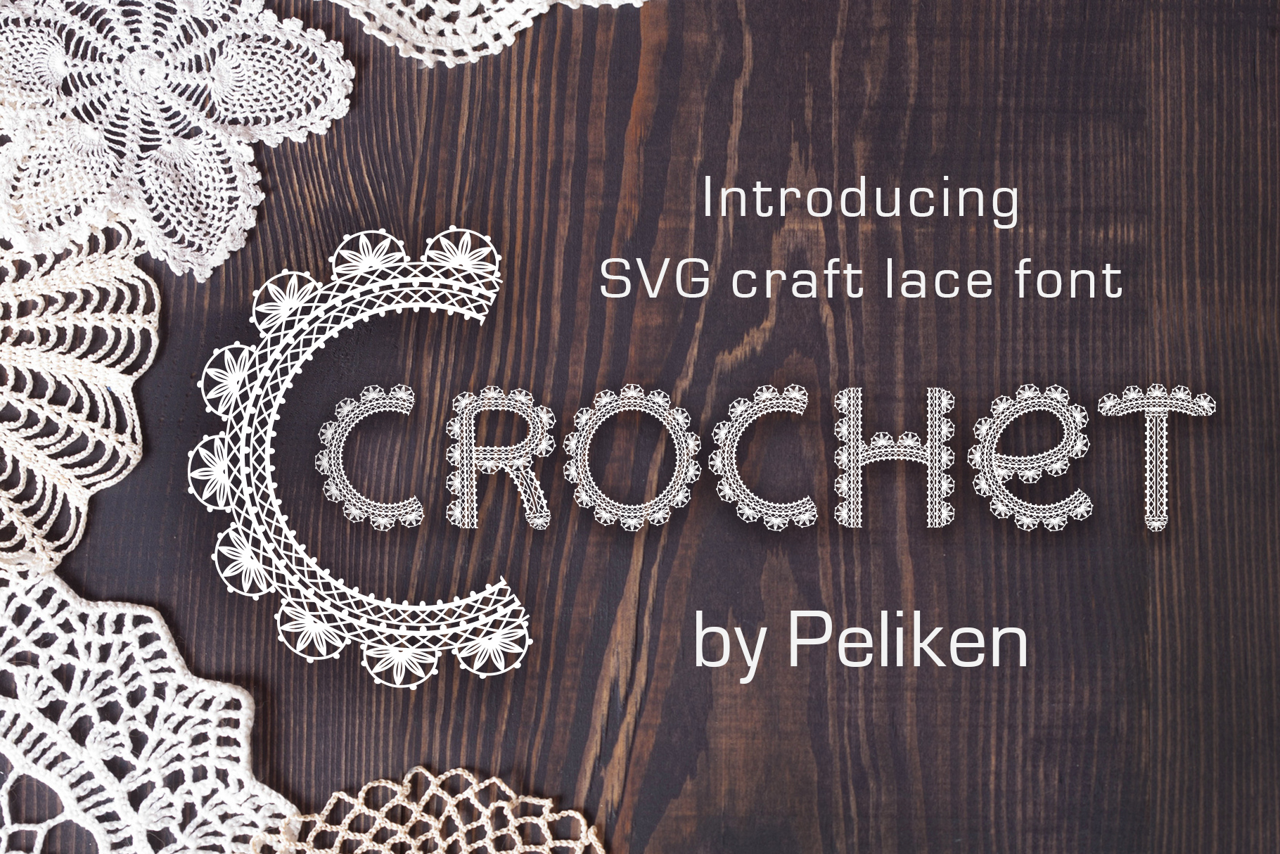 Crochet - svg craft lace font example image 1