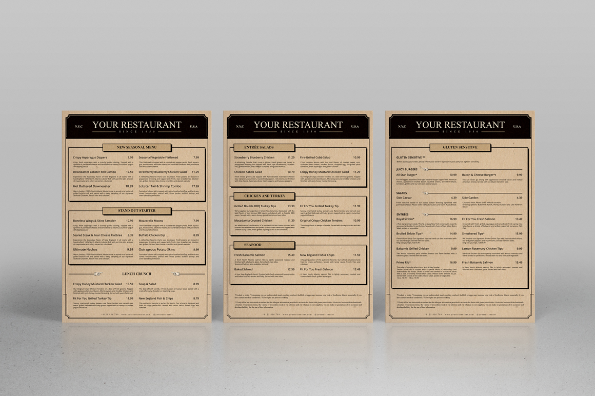 Classic Artdeco Restaurant Menu example image 2