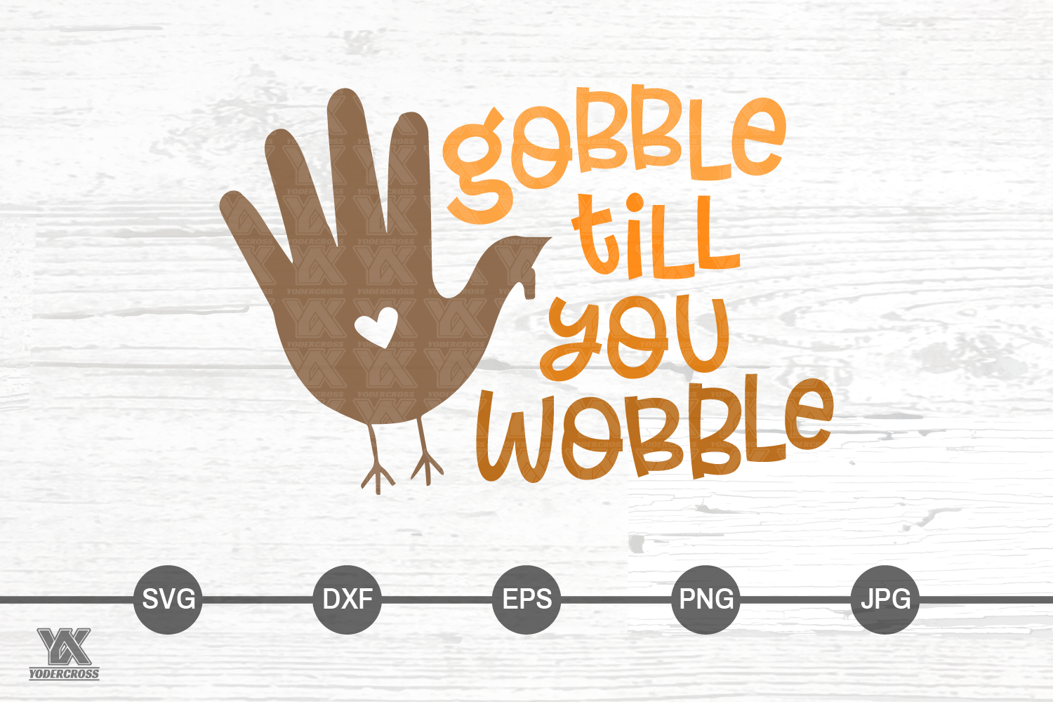 Gobble Till You Wobble Thanksgiving SVG example image 3