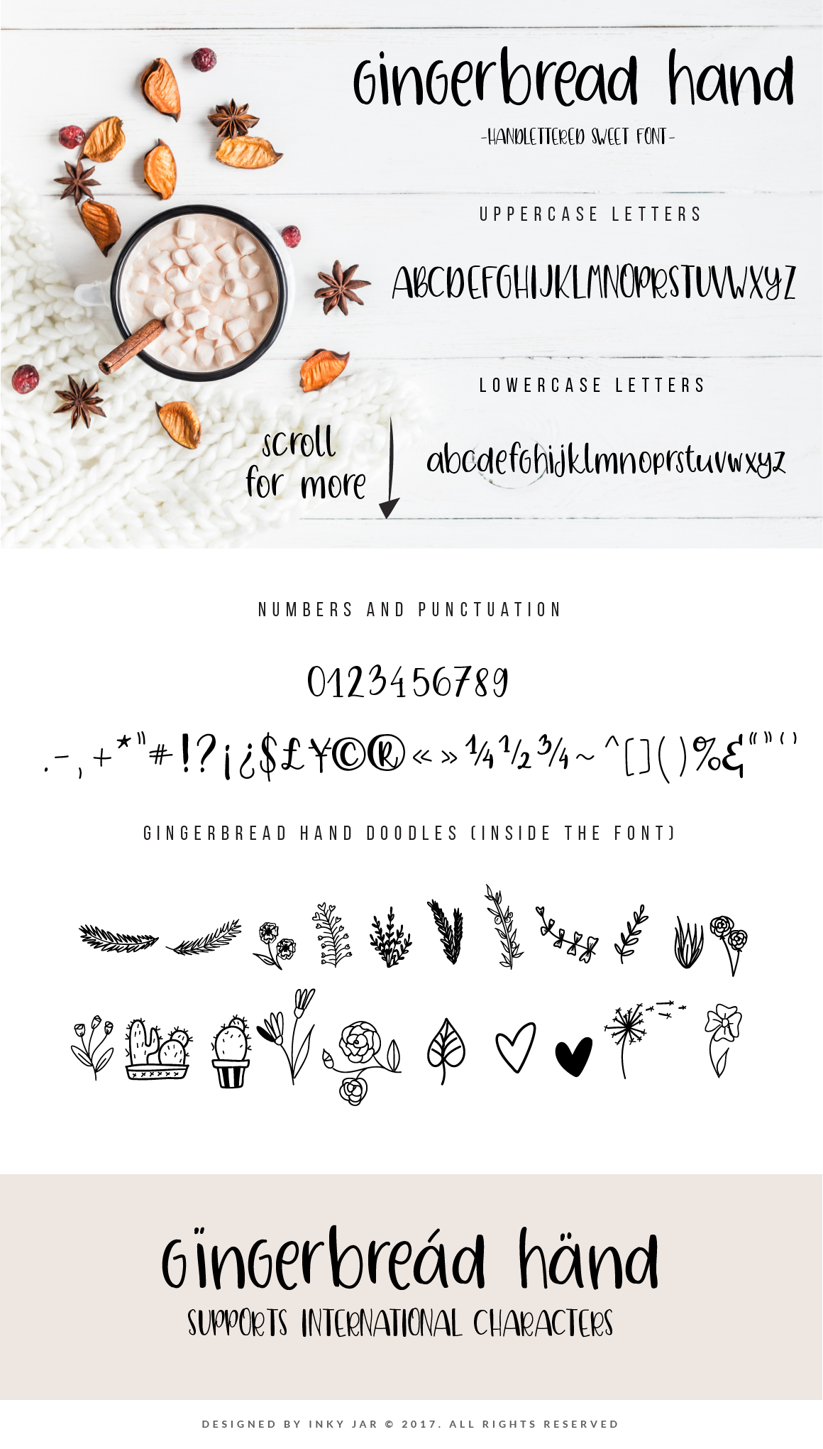 Gingerbread Font Duo 9 Premade Logo templates example image 3