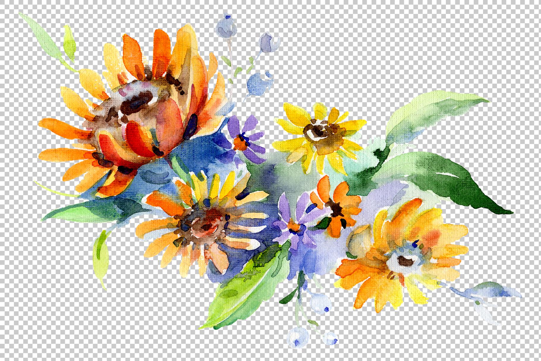 Bouquet Romantic Watercolor png example image 2