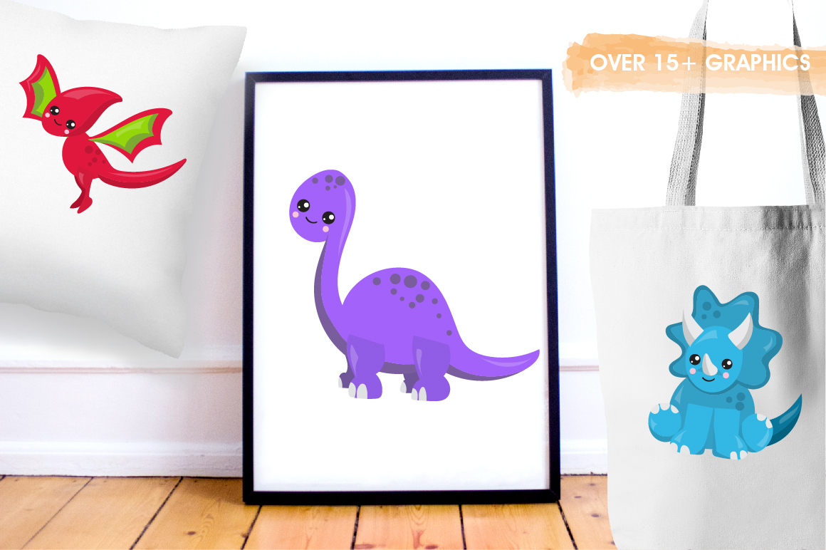 Party Dinosaurs graphics and illustrations example image 5