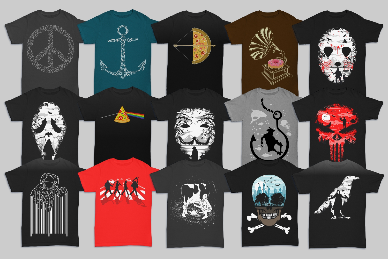 cea970359 Tshirt Designs Mega Bundle Pack 2 example image 3