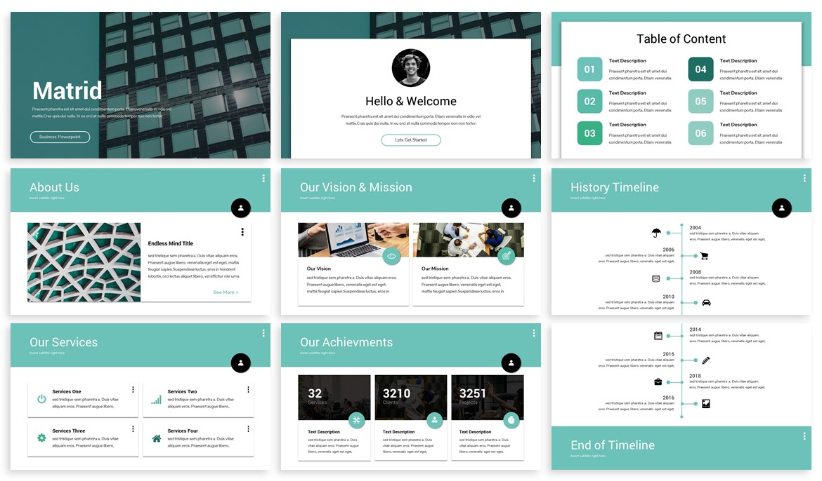 Matrid - Business Powerpoint Template example image 2