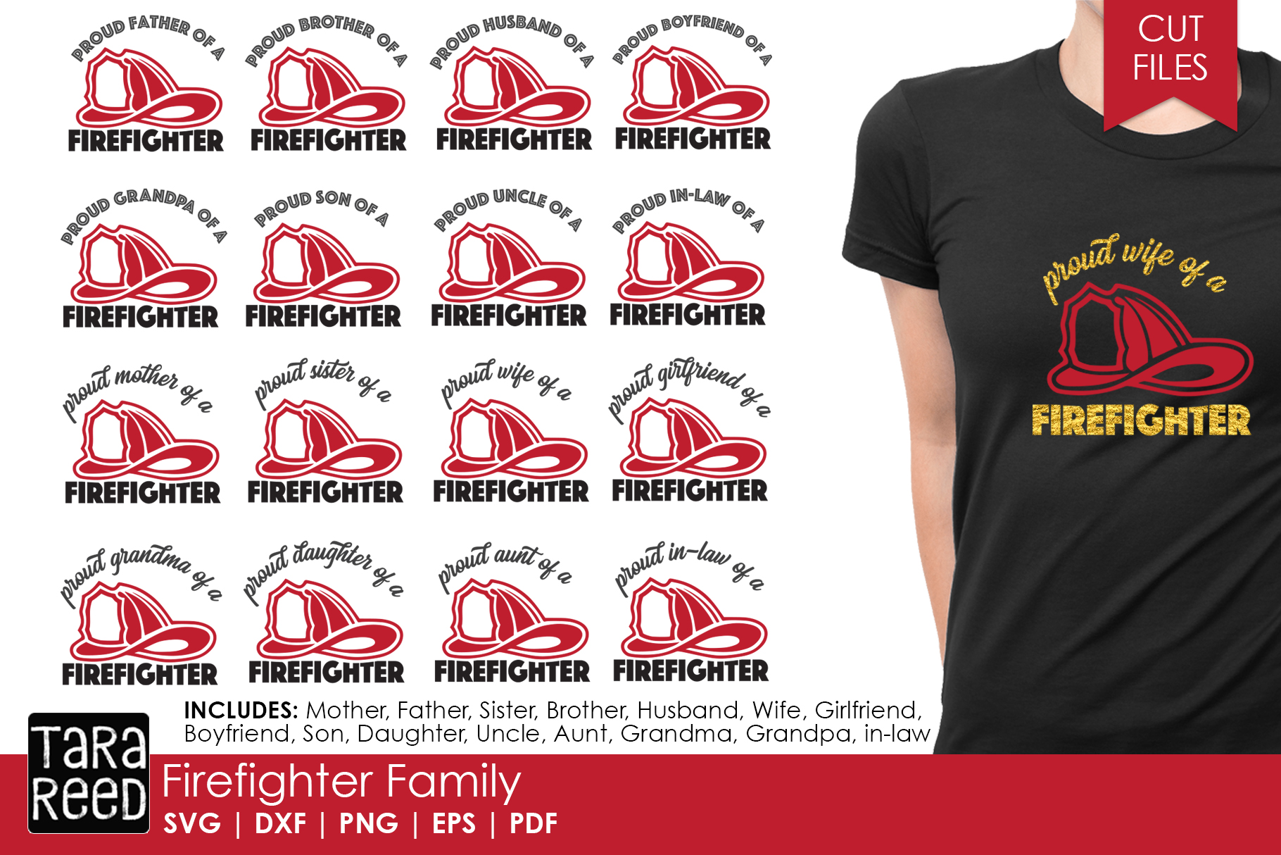 Firefighter Family - Firefighter SVG and Cut Files example image 1