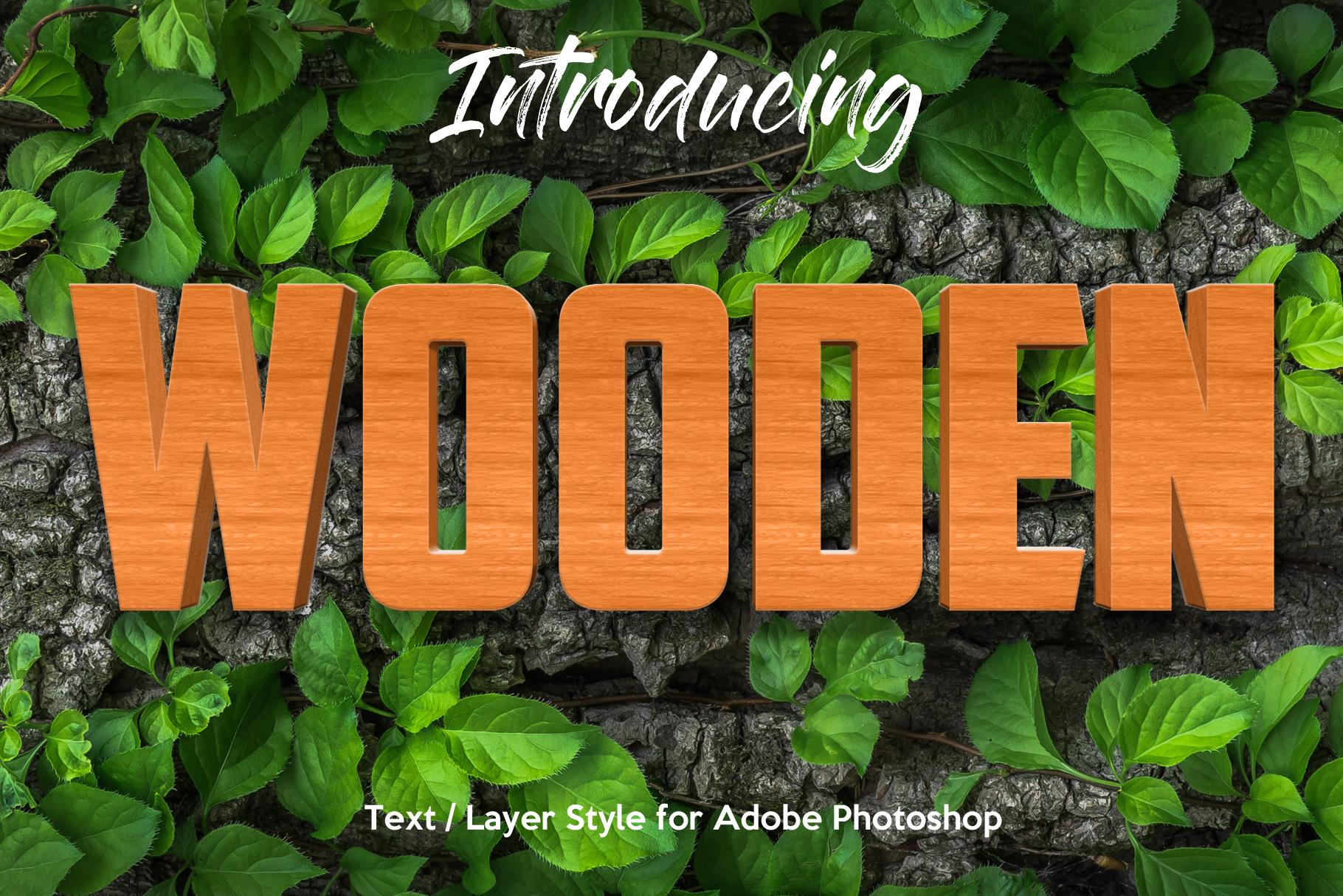 10 Wood Style for Photoshop example image 1