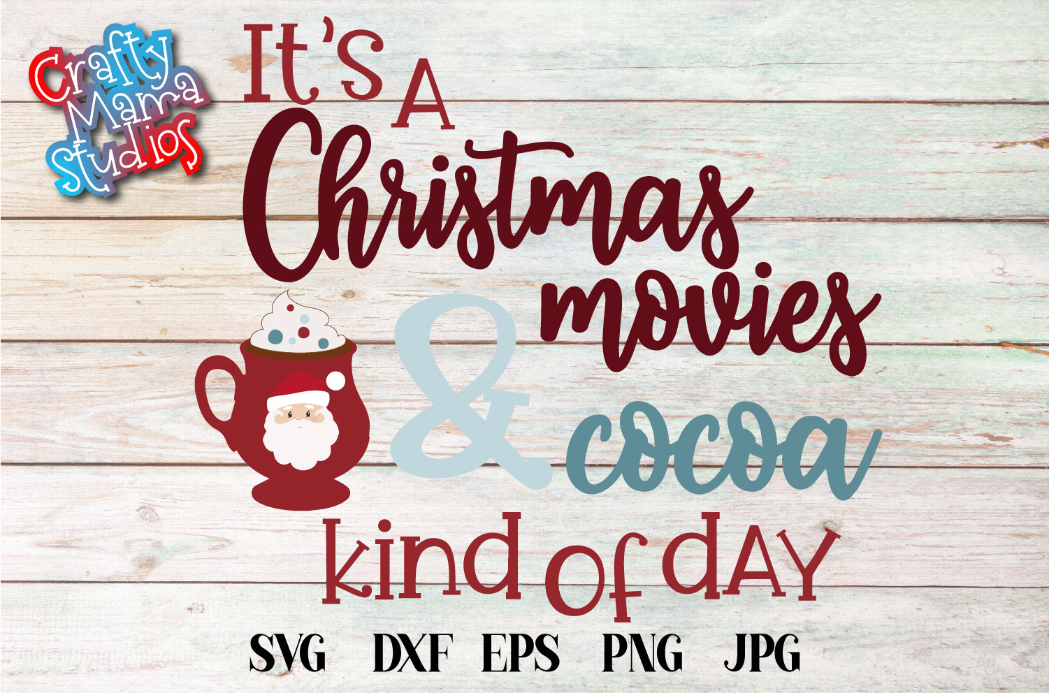 It's A Christmas Movies And Cocoa Day SVG, Christmas SVG example image 2