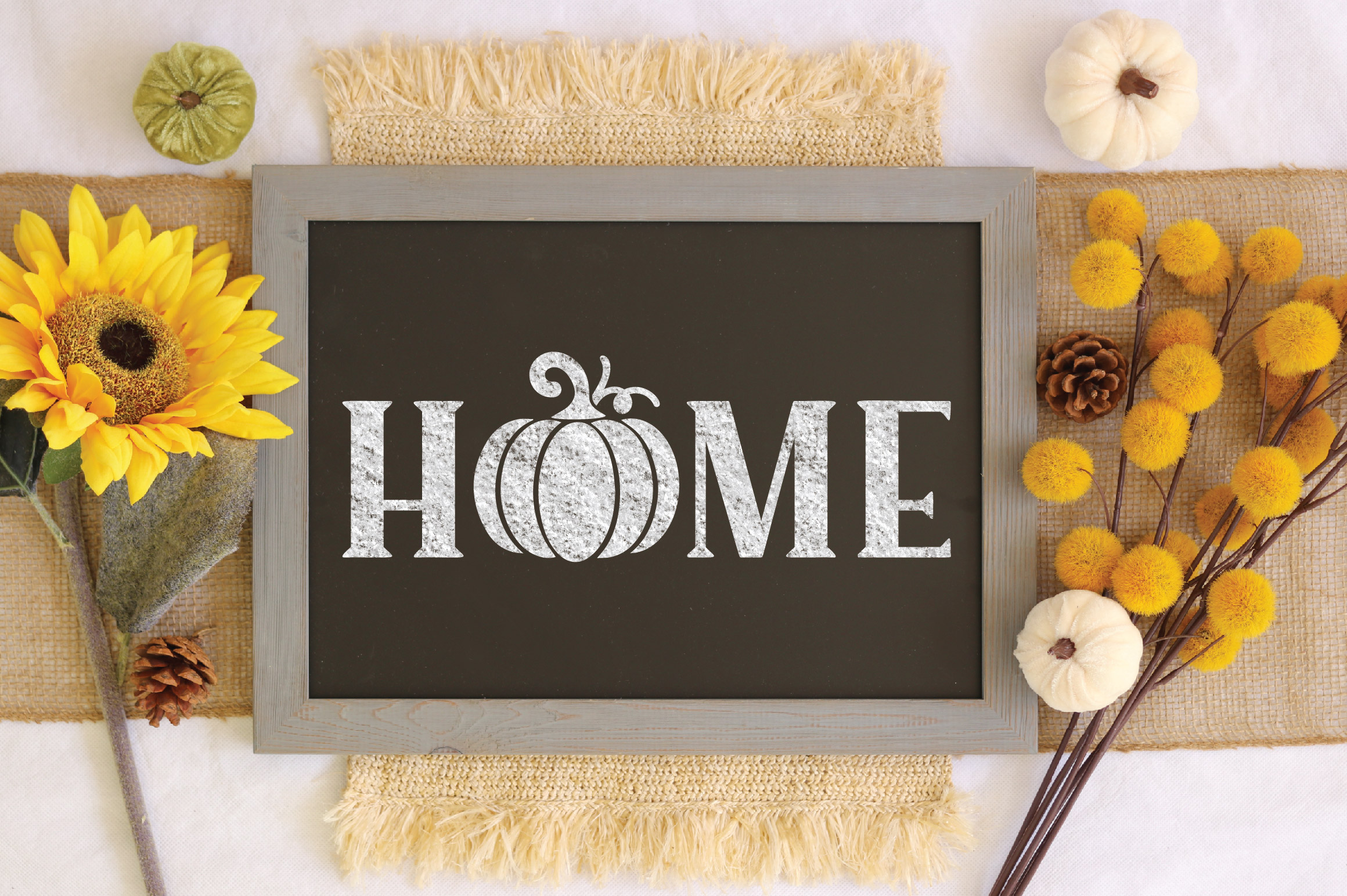 Home SVG Cut File - Fall Pumpkin SVG example image 4