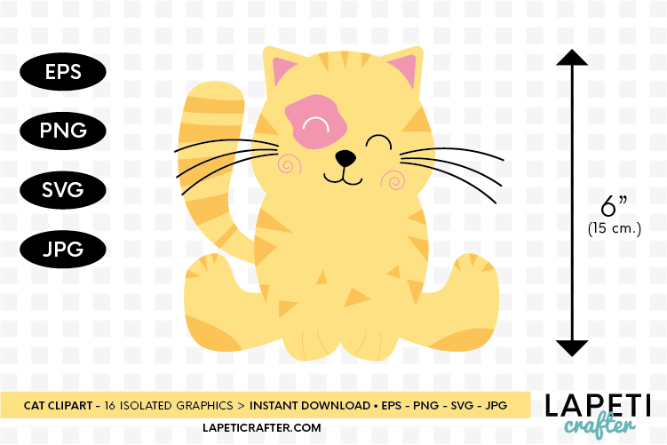 Cat clipart, kitten cats clipart, kitty clip art digital example image 2