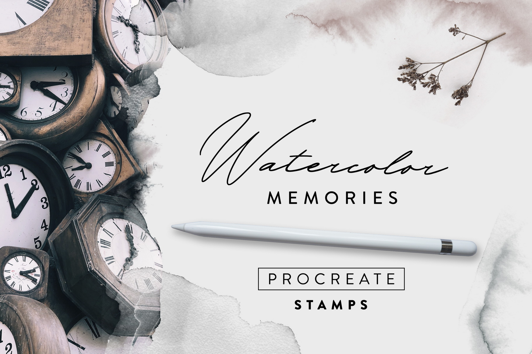 Watercolor Memories - Procreate Stamps example image 1