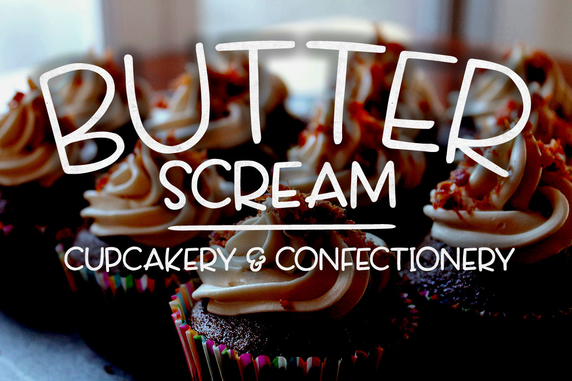 Scamper: cupcake bakery logo mockup