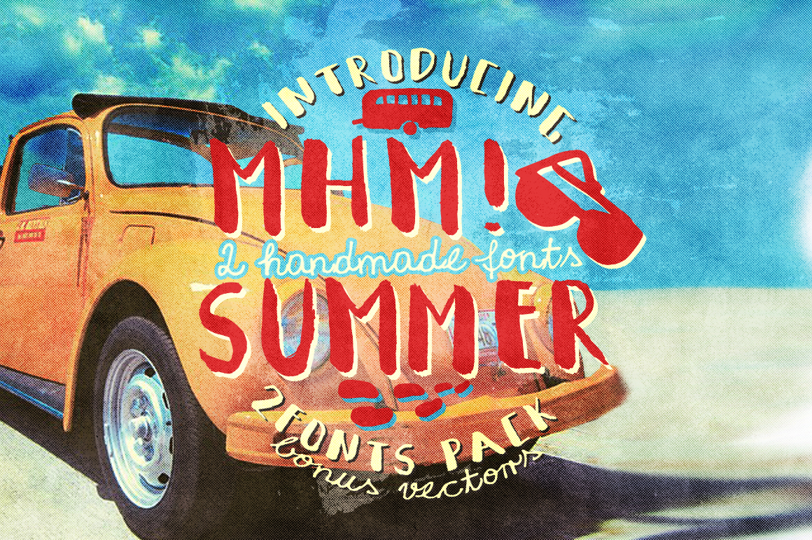 Mhm! Summer 2 Font + Vector Bonus example image 1
